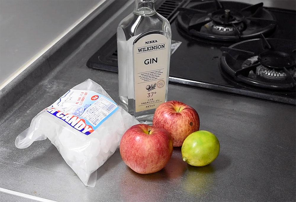 リンゴ酒を仕込む