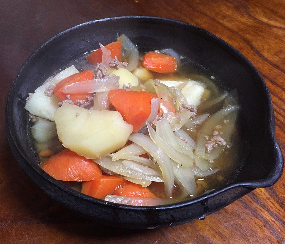 根野菜を入れて、栄養を摂りましょう